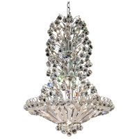 Elegant Lighting Sirius 22 Light Dining Chandelier in Chrome with Elegant Cut Clear Crystal 2908D28C/EC