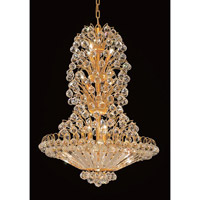Elegant Lighting Sirius 22 Light Dining Chandelier in Gold with Swarovski Strass Clear Crystal 2908D28G/SS alternative photo thumbnail