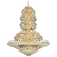 Elegant Lighting Sirius 33 Light Foyer in Gold with Swarovski Strass Clear Crystal 2908G36G/SS