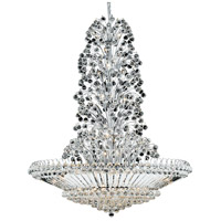Elegant Lighting Sirius 43 Light Foyer in Chrome with Spectra Swarovski Clear Crystal 2908G48C/SA