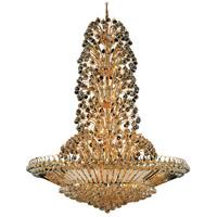 Elegant Lighting V2908G48G/SS Sirius 43 Light 48 inch Gold Foyer Ceiling Light in Swarovski Strass