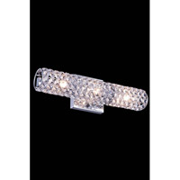 Elegant Lighting Holland 3 Light Wall Lamp in Chrome with Royal Cut Clear Crystal 2911W16C/RC