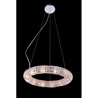Elegant Lighting Halo 12 Light Pendant in Chrome with Royal Cut Clear Crystal 2912D18C/RC