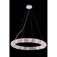Elegant Lighting Halo 16 Light Pendant in Chrome with Royal Cut Clear Crystal 2912D24C/RC