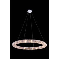 Elegant Lighting Halo 20 Light Pendant in Chrome with Royal Cut Clear Crystal 2912D32C/RC - Open Box