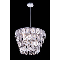 Elegant Lighting Sophia 6 Light Pendant in Chrome with Royal Cut Clear Crystal 2913D20C/RC