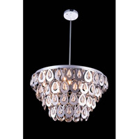 Elegant Lighting Sophia 8 Light Pendant in Chrome with Royal Cut Clear Crystal 2913D24C/RC