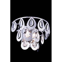 Elegant Lighting Sophia 2 Light Wall Lamp in Chrome with Royal Cut Clear Crystal 2913W12C/RC