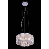 Elegant Lighting Amelie 4 Light Pendant in Chrome with Royal Cut Clear Crystal 2914D12C/RC