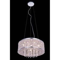 Elegant Lighting V2914D16C/RC Amelie 6 Light 16 inch Chrome Pendant Ceiling Light