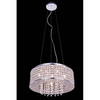 Elegant Lighting Amelie 6 Light Pendant in Chrome with Royal Cut Clear Crystal 2914D16C/RC