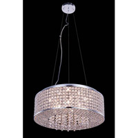 Elegant Lighting Amelie 8 Light Pendant in Chrome with Royal Cut Clear Crystal 2914D20C/RC