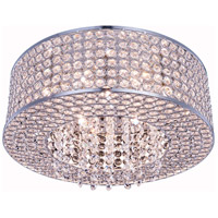 Elegant Lighting V2914F16C/RC Amelie 6 Light 16 inch Chrome Flush Mount Ceiling Light