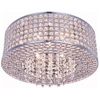 Elegant Lighting V2914F16C/RC Amelie 6 Light 16 inch Chrome Flush Mount Ceiling Light