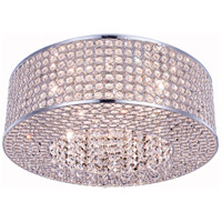 Elegant Lighting V2914F20C/RC Amelie 8 Light 20 inch Chrome Flush Mount Ceiling Light