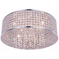 Elegant Lighting V2914F20C/RC Amelie 8 Light 20 inch Chrome Flush Mount Ceiling Light