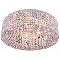 Elegant Lighting V2914F24C/RC Amelie 10 Light 24 inch Chrome Flush Mount Ceiling Light