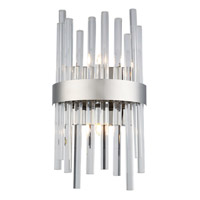 Elegant Lighting 3000W8C Dallas 2 Light 8 inch Chrome Wall Sconce Wall Light, Urban Classic