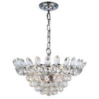 Elegant Lighting 3002D16C/RC Vesper 6 Light 16 inch Chrome Pendant Ceiling Light Urban Classic