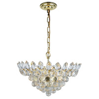 Elegant Lighting 3002D16G/RC Vesper 6 Light 16 inch Gold Pendant Ceiling Light, Urban Classic