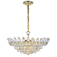 Elegant Lighting 3002D20G/RC Vesper 10 Light 20 inch Gold Chandelier Ceiling Light, Urban Classic