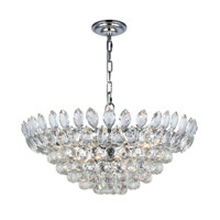 Elegant Lighting 3002D24C/RC Vesper 11 Light 24 inch Chrome Chandelier Ceiling Light, Urban Classic