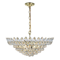 Elegant Lighting 3002D24G/RC Vesper 11 Light 24 inch Gold Chandelier Ceiling Light, Urban Classic