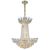Elegant Lighting 3002D26G/RC Vesper 10 Light 20 inch Gold Chandelier Ceiling Light Urban Classic