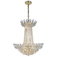 Elegant Lighting 3002D26G/RC Vesper 10 Light 20 inch Gold Chandelier Ceiling Light Urban Classic