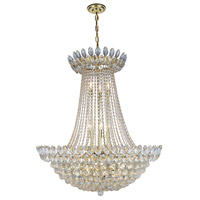 Elegant Lighting 3002D30G/RC Vesper 17 Light 30 inch Gold Chandelier Ceiling Light Urban Classic