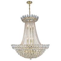 Elegant Lighting 3002D30G/RC Vesper 17 Light 30 inch Gold Chandelier Ceiling Light Urban Classic