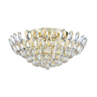 Vesper 7 Light 20 inch Gold Flush Mount Ceiling Light, Urban Classic