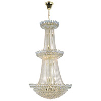 Elegant Lighting 3002G36G/RC Vesper 27 Light 36 inch Gold Chandelier Ceiling Light Urban Classic