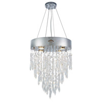 Elegant Lighting 3003D16C/RC Granada 4 Light 16 inch Chrome Pendant Ceiling Light, Urban Classic
