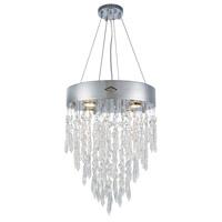 Elegant Lighting 3003D16C/RC Granada 4 Light 16 inch Chrome Pendant Ceiling Light, Urban Classic