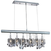Elegant Lighting Chorus Line 6 Light Dining Chandelier in Chrome with Royal Cut Clear Crystal 3100D30C/RC