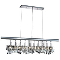 Elegant Lighting Chorus Line 10 Light Dining Chandelier in Chrome with Royal Cut Clear Crystal 3100D40C/RC