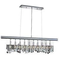 Elegant Lighting V3100D40C/RC Chorus Line 10 Light 40 inch Chrome Dining Chandelier Ceiling Light