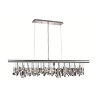 Elegant Lighting Chorus Line 13 Light Dining Chandelier in Chrome with Royal Cut Clear Crystal 3100D48C/RC alternative photo thumbnail