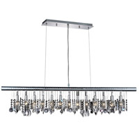 Elegant Lighting Chorus Line 13 Light Dining Chandelier in Chrome with Royal Cut Clear Crystal 3100D48C/RC photo thumbnail