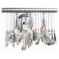 Elegant Lighting Chorus Line 3 Light Wall Sconce in Chrome with Royal Cut Clear Crystal 3100W16C/RC - Open Box