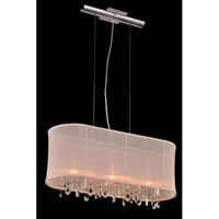Harmony 3 Light 10 inch Chrome Pendant Ceiling Light