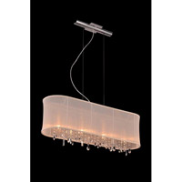 Elegant Lighting Harmony 4 Light Pendant in Chrome with Royal Cut Clear Crystal 3200D34C/RC