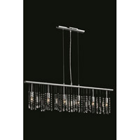 Elegant Lighting Harmony 6 Light Pendant in Chrome with Royal Cut Clear Crystal 3200D46C/RC - Open Box
