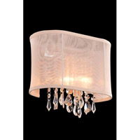 Elegant Lighting Harmony 1 Light Wall Lamp in Chrome with Royal Cut Clear Crystal 3200W11C/RC