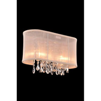Elegant Lighting Harmony 2 Light Wall Lamp in Chrome with Royal Cut Clear Crystal 3200W15C/RC