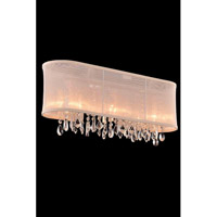 Elegant Lighting Harmony 3 Light Wall Lamp in Chrome with Royal Cut Clear Crystal 3200W23C/RC