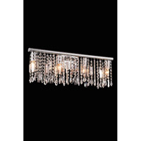 Elegant Lighting Harmony 4 Light Wall Lamp in Chrome with Royal Cut Clear Crystal 3200W24C/RC