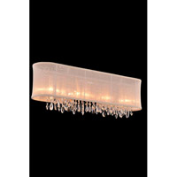 Elegant Lighting Harmony 4 Light Wall Lamp in Chrome with Royal Cut Clear Crystal 3200W29C/RC - Open Box