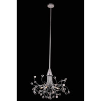 Elegant Lighting Optic 6 Light Pendant in Chrome with Royal Cut Clear Crystal 3202D24C/RC